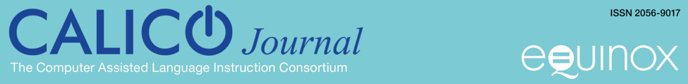 Call for Proposals CALICO Journal Special Issue