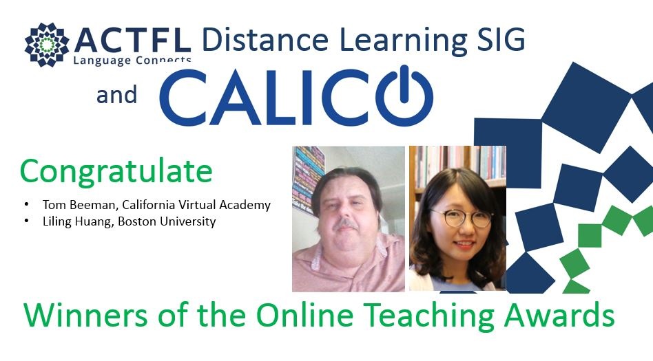 2020 Award Winners CALICO/ACTFL DL SIG